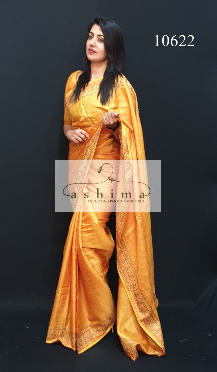 10622 Tussar silk saree
