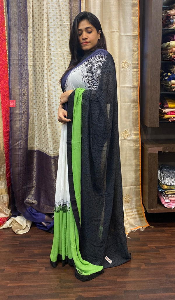 Semi georgette saree 14485