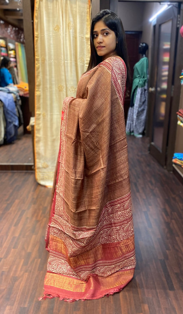Tussar silk saree 13774