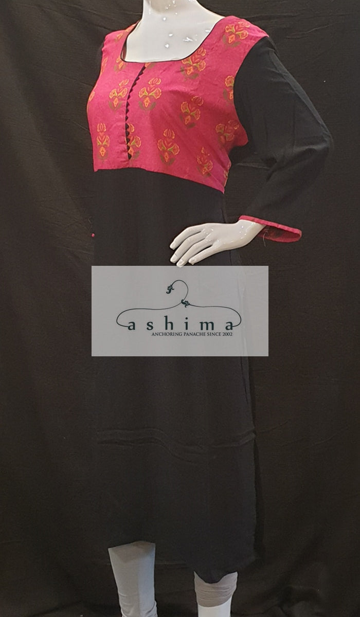 Cotton and rayon  Kurti - XXL- Kurti 95