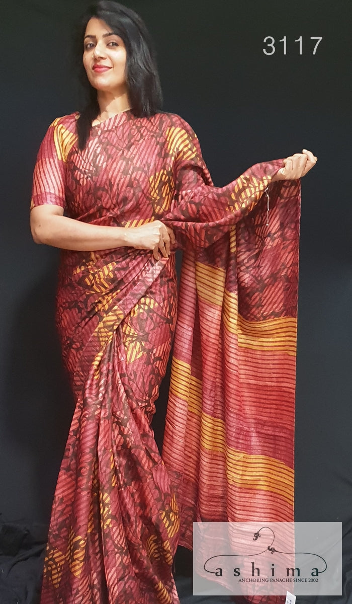 Tussar Silk Saree 3117