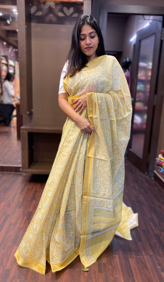 Chanderi saree 13359