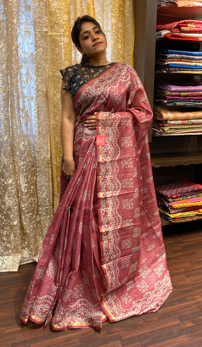 Semi silk saree 14340