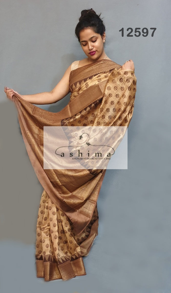 Chanderi saree 12597
