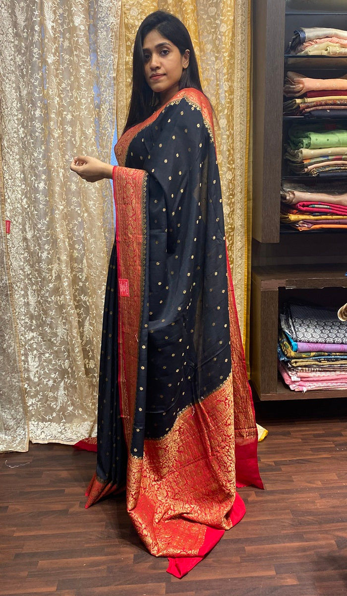 Crepe silk saree 14459
