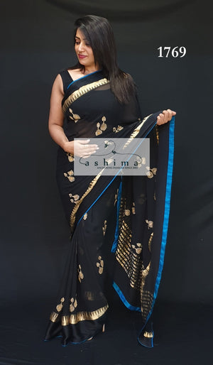 Embroidered Georgette Saree 1769