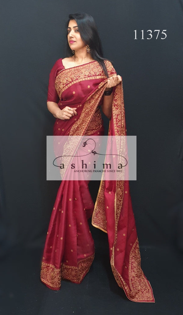 Semi Silk Saree 11375