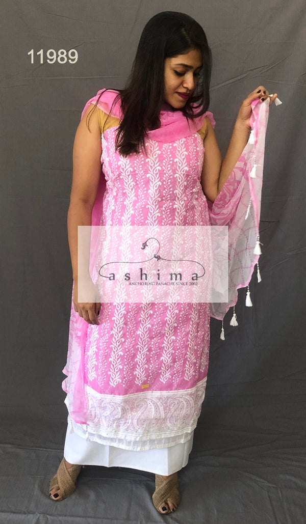 Unstitched salwar suit 11989