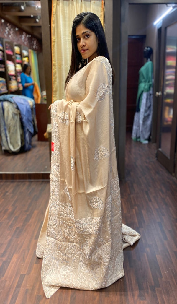 Semi silk saree  13689