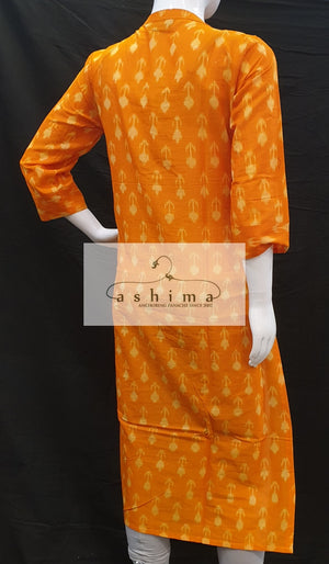 cotton ikkat Kurti - Medium- Kurti 73