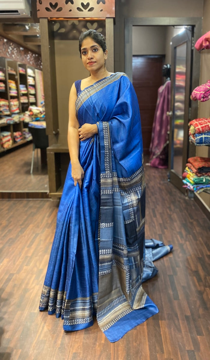 Tussar silk saree 12192