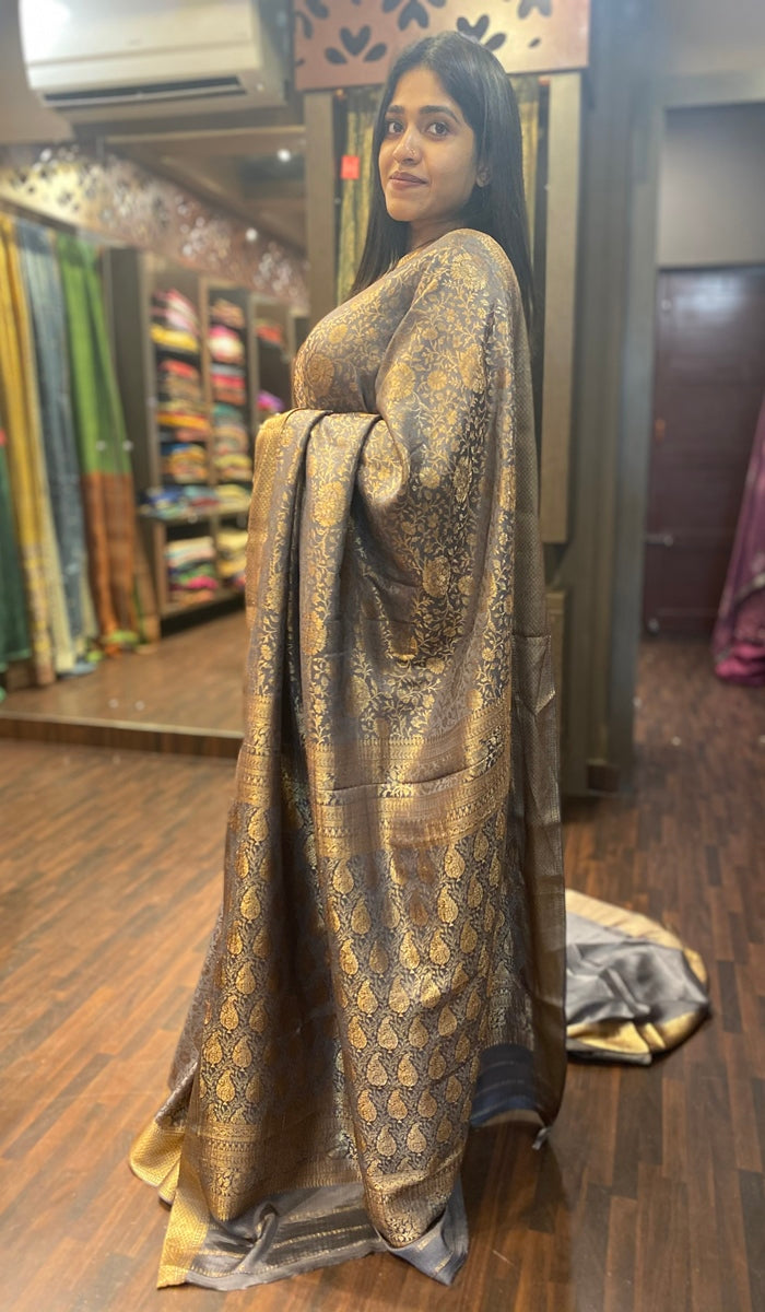 Crepe silk saree 13298