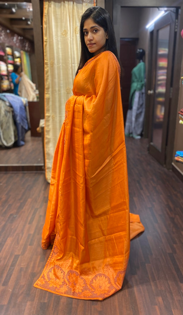 Semi silk saree  9532