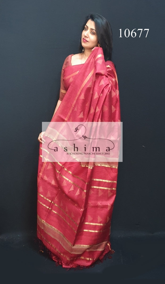 Tussar silk saree 10677
