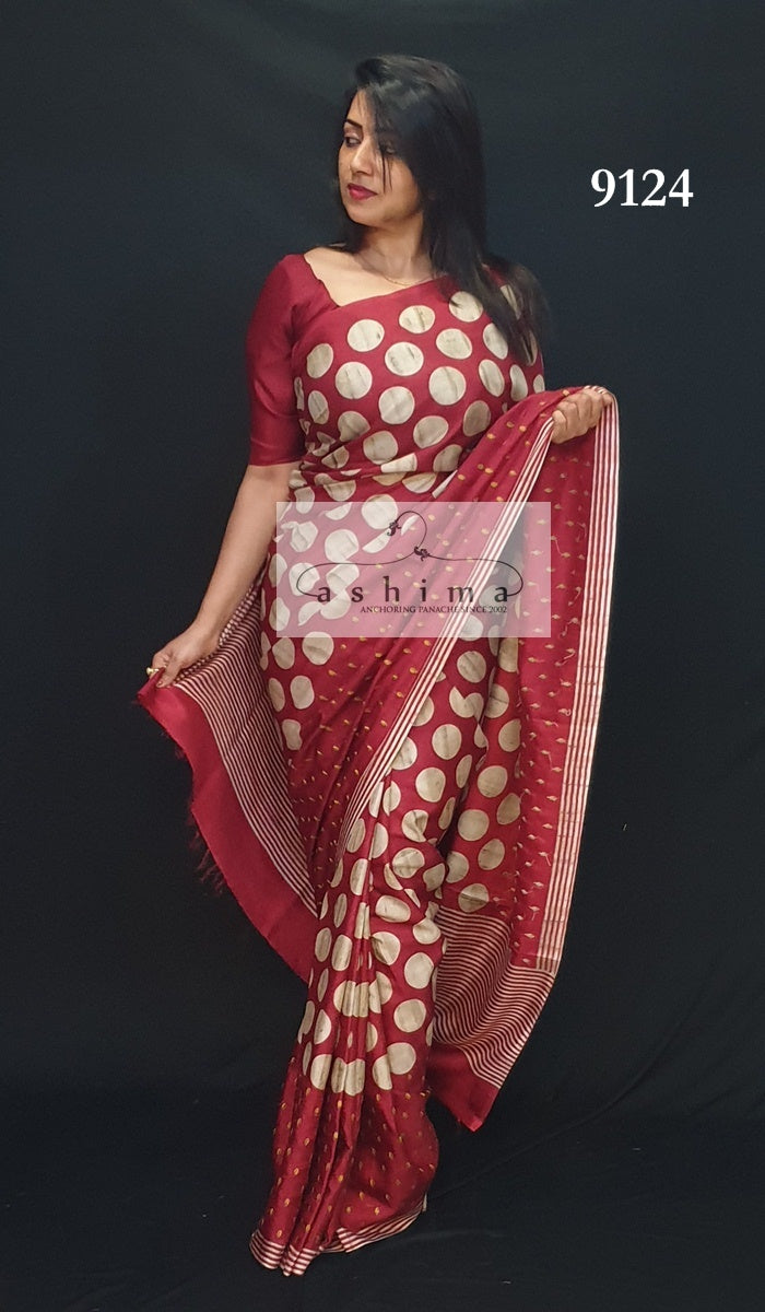 Semi Silk Saree 9124