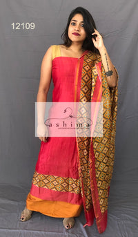 Unstitched salwar suit 12109