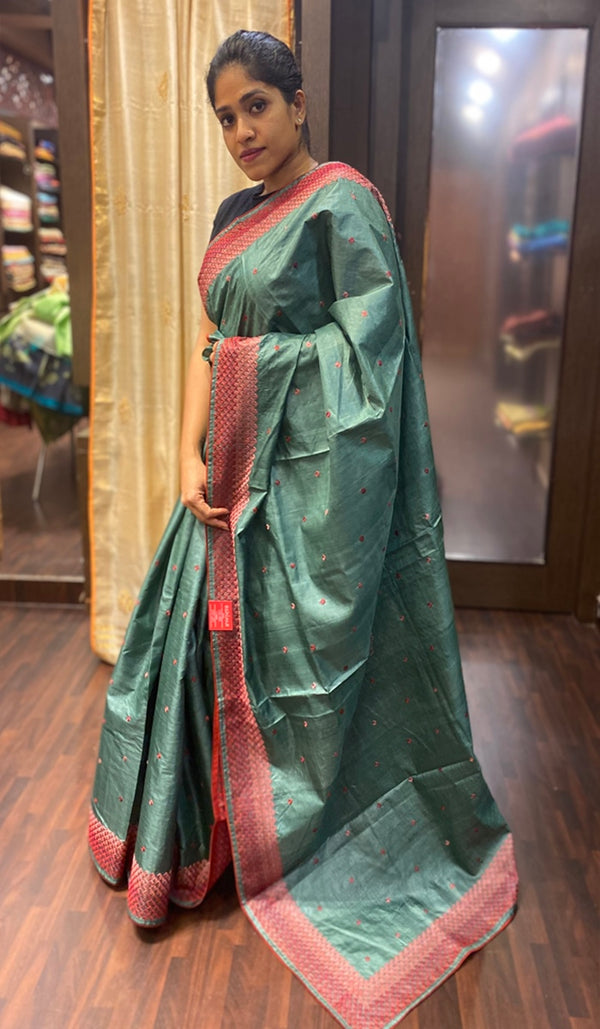 Tussar silk saree 13836
