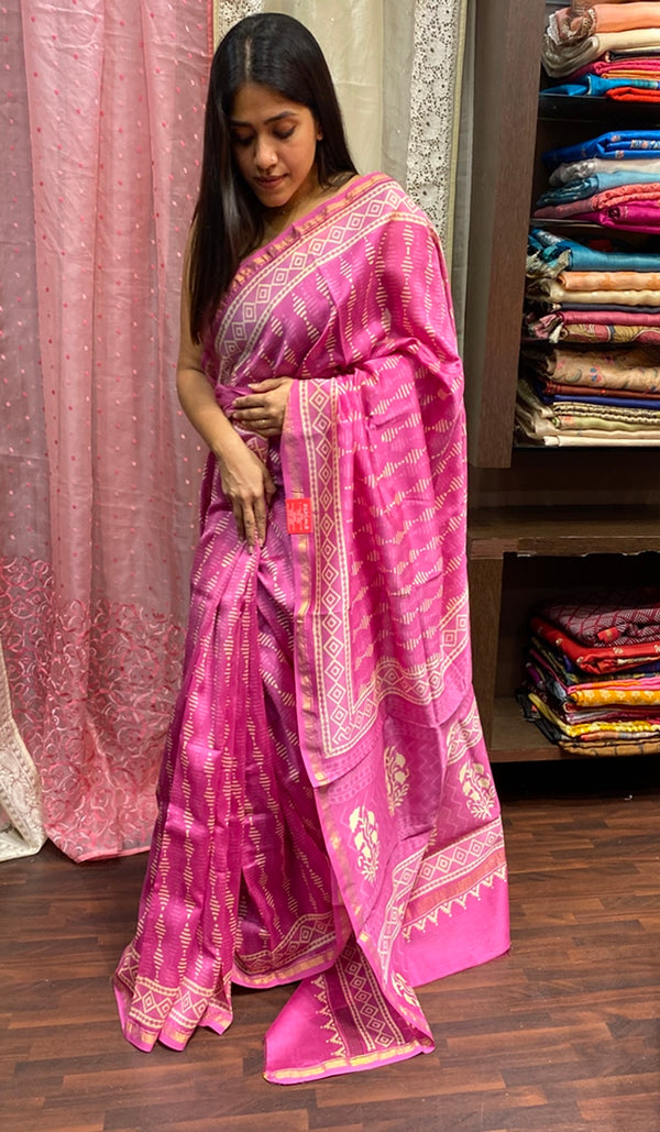 Chanderi saree 14272