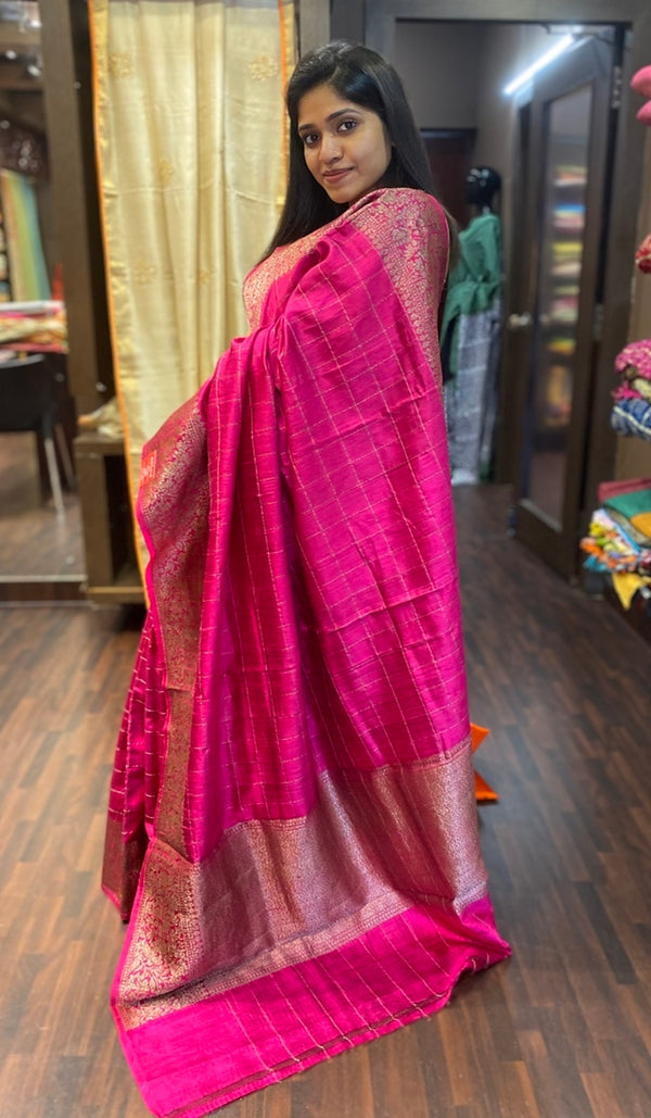 Raw silk saree 13749