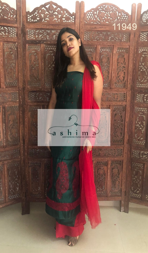 Unstitched salwar suit 11949