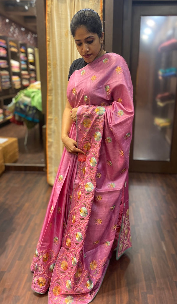 Tussar silk saree 13842
