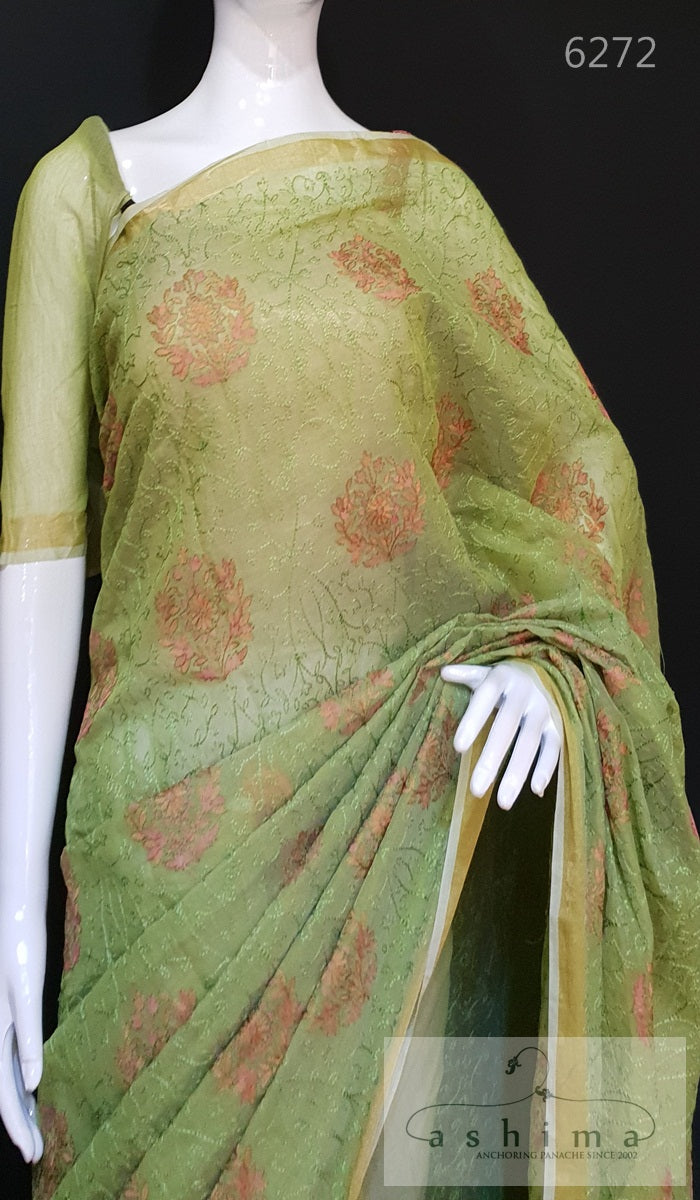 Embroidered Chanderi Saree 6272
