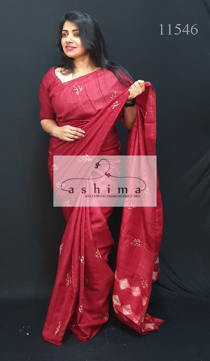 Tussar Silk Saree 11546