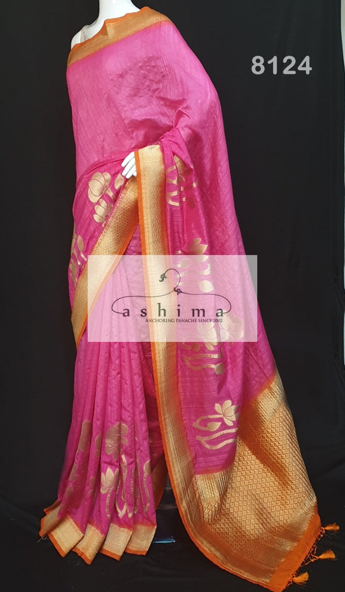 Semi banarasi saree 8124