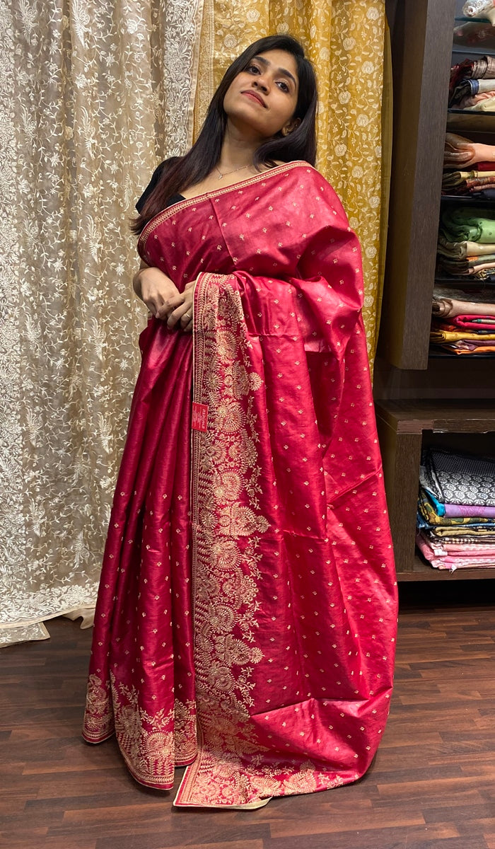 Tussar silk saree 14397