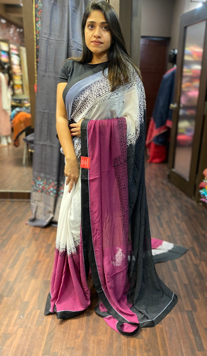 Semi georgette saree 13579