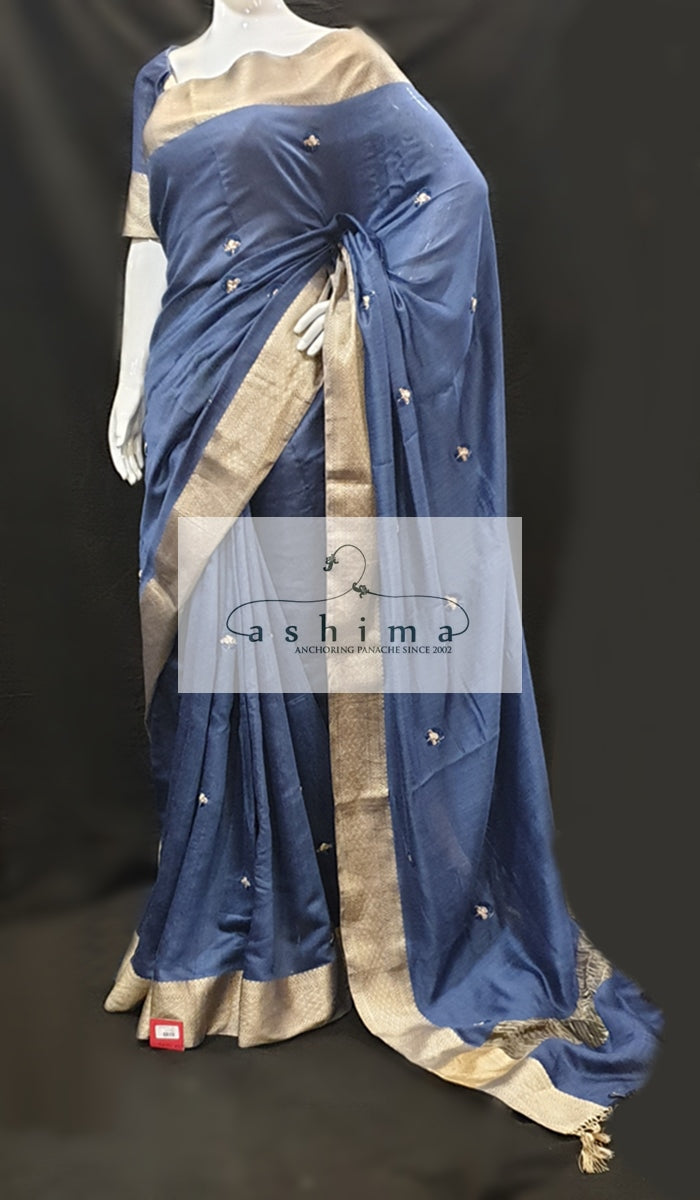 Linen silk saree 11793