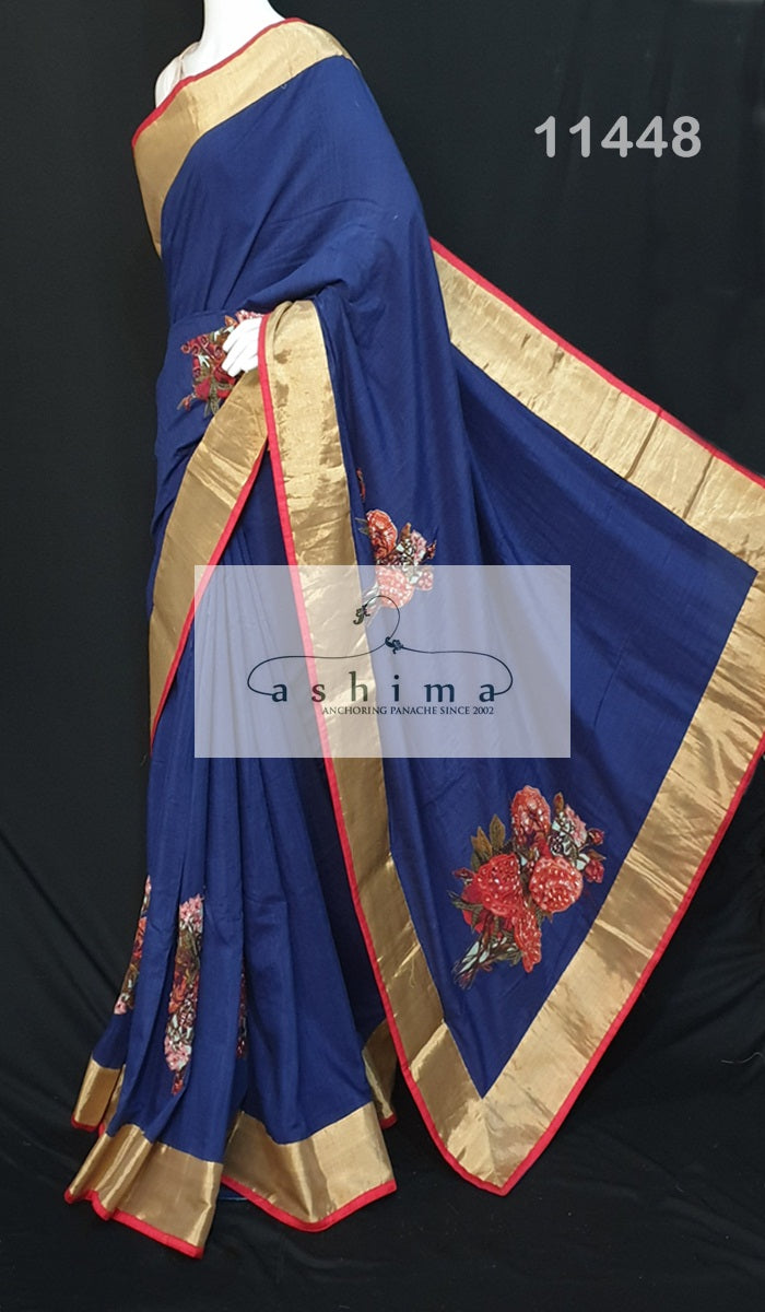 Designer silk saree 11448