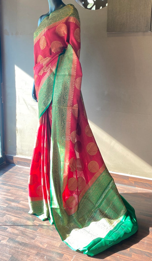 Soft silk saree 13096