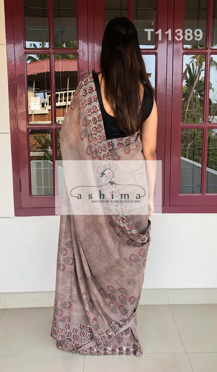 Chanderi Saree T11389