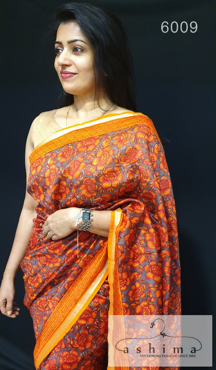 Chanderi Silk Saree 6009