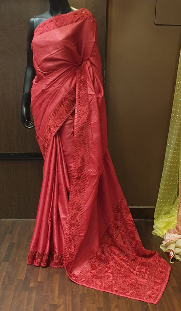 Tussar silk saree 6163