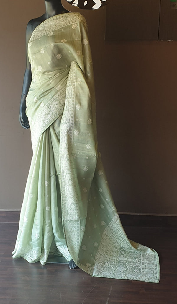 Tussar silk saree 12996