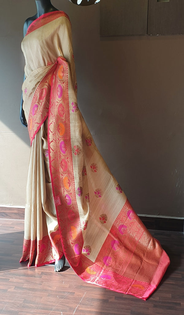 Tussar silk saree 12966