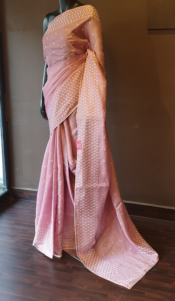 Semi tussar saree 13145