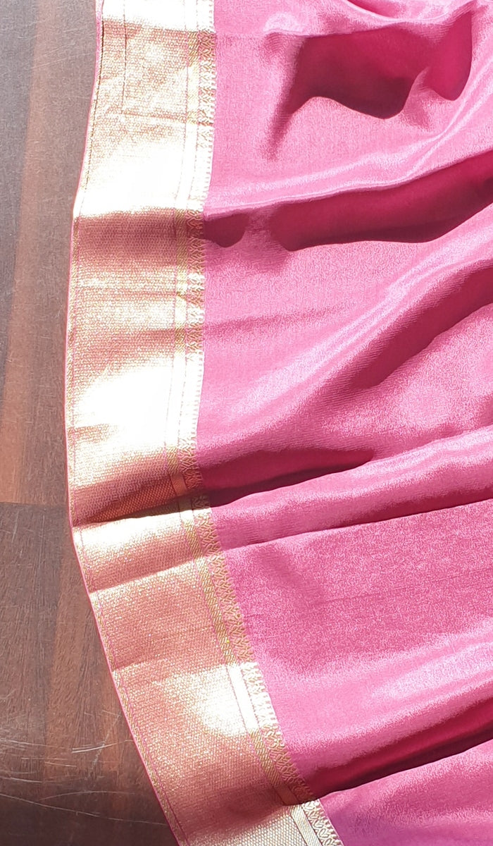 Banarasi brocade Crepe silk saree 13197