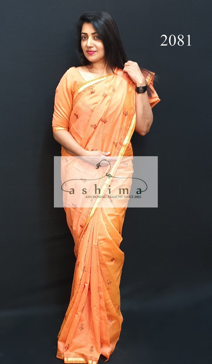 Chanderi Silk Saree 2081