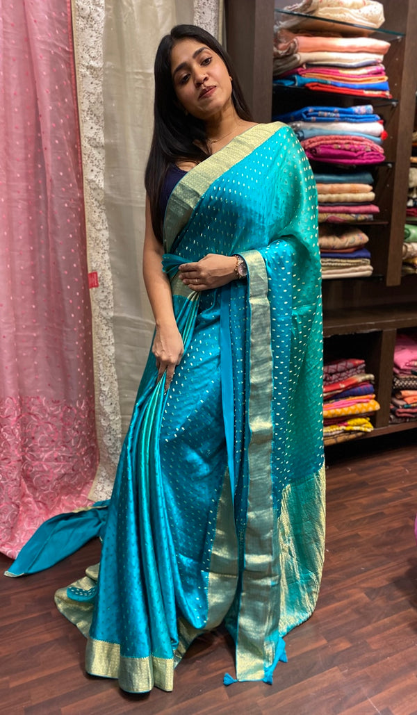 Crepe silk saree 14283