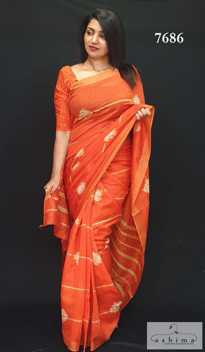 Chanderi Silk Saree 7686
