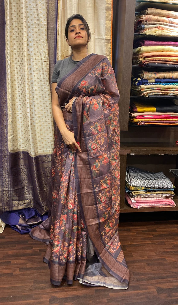 Semi silk saree 14344