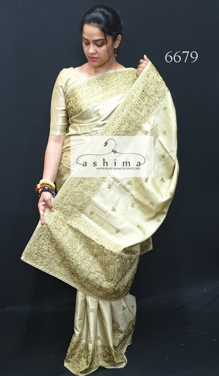 Tussar Silk Saree 6679