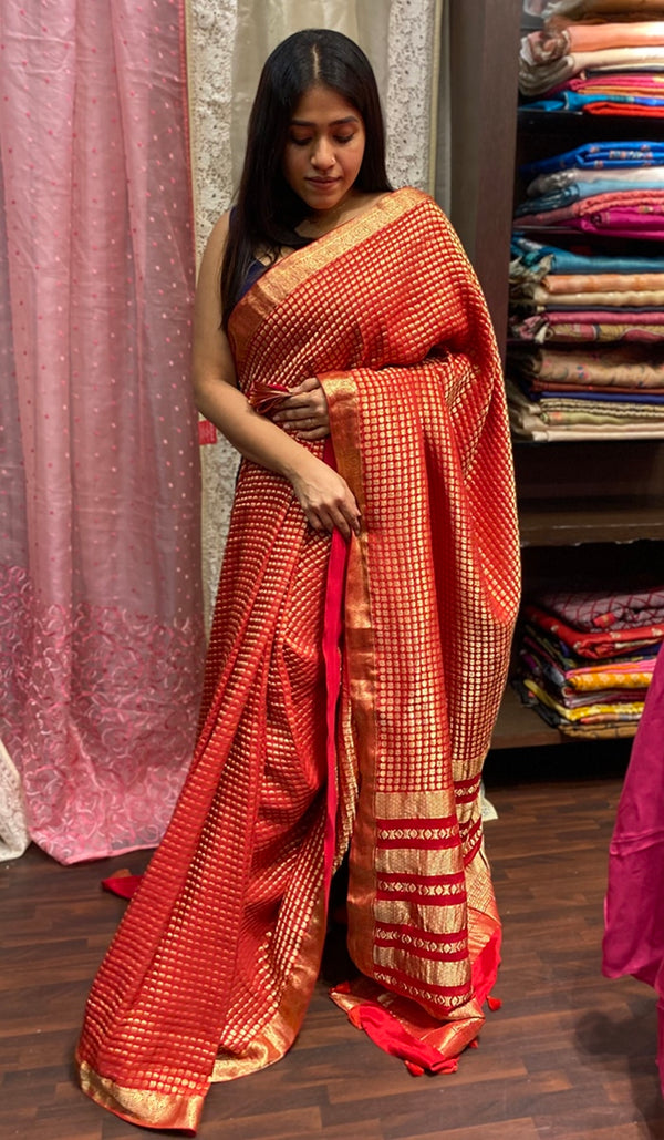 Crepe silk saree 14280