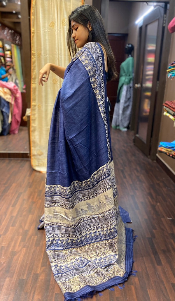 Tussar silk saree 13771