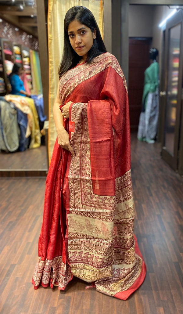 Tussar silk saree 13372
