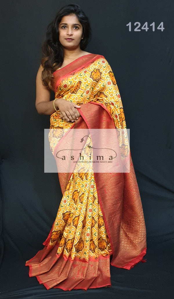 Semi Banarasi Saree 12414