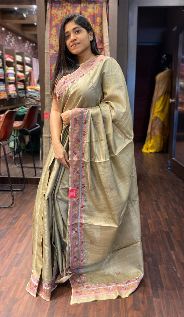 Tussar silk saree 13914